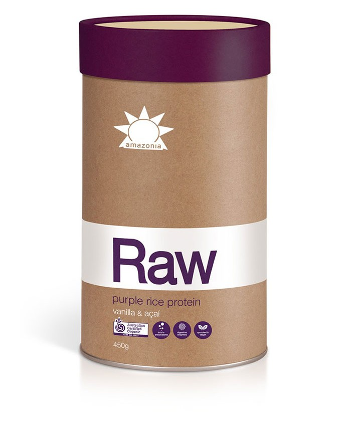 Amazonia Raw Purple Rice Protein - Vanilla and Acai 450g