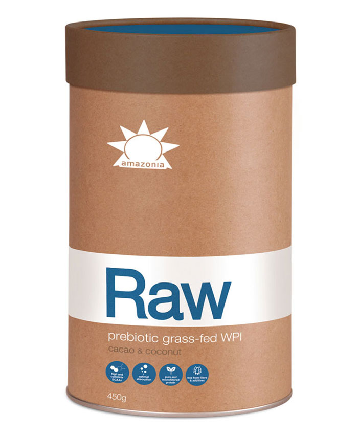 Amazonia Raw Probiotic Grass-fed Whey Protein Isolate - Cacao and Coconut 900g