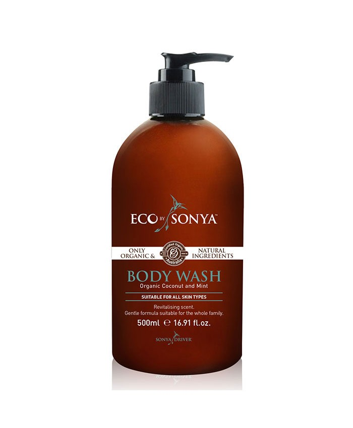 Eco Tan Organic Coconut and Mint Body Wash 500ml