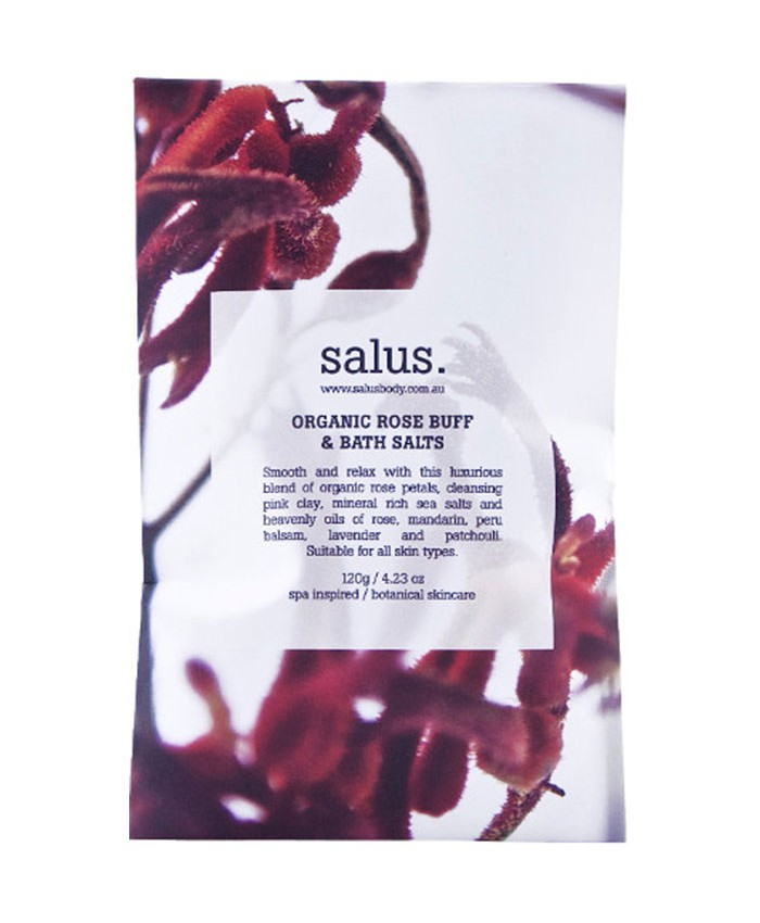 Salus Organic Rose Buff and Bath Salts