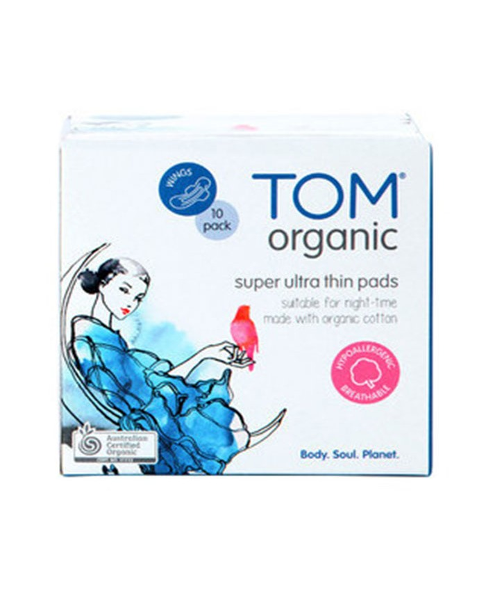 Tom Organic Overnight Pads 10 Pack