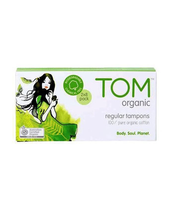 Tom Organic Regular Tampons 16 Pack