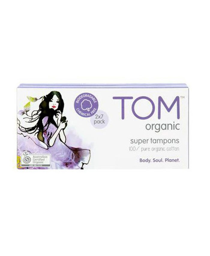 Tom Organic Super Tampons 16 Pack