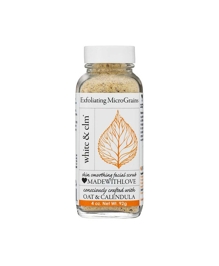 White and Elm Oat and Calendula Exfoliating Micrograins 92g