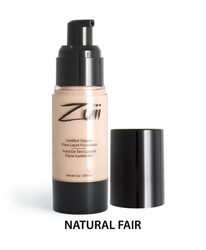 Zuii Organic Flora Liquid Foundation Natural Fair